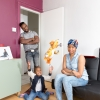 G. B. London. From Cape Verde. Patrick Lopes and from Cameroon, Germaine Lopes, with their son Jahden (3)